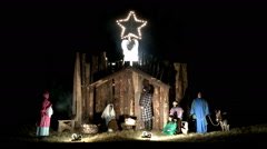 Live nativity scene Jesus birth Stock Footage