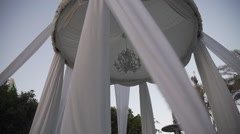 The Jewish Wedding Canopy (Huppah) in Israel Stock Footage