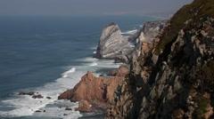 The Atlantic Ocean at Cabo da Roca, Portugal.mp4 - stock footage