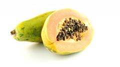 Fresh and tasty papaya Stock Footage