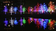 Beautiful Christmas Lights in Addison Texas Stock Footage