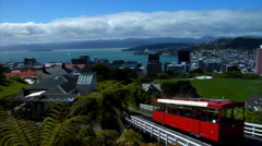 Wellington Cable Car With Pan Stock Footage