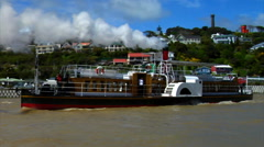 Paddle Steamer Boat Stock Footage