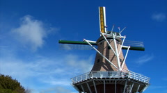 Dutch Windmill Reverse Wide Stock Footage