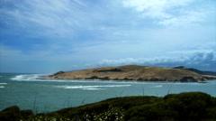 Hokianga Harbor Sand Dunes Time Lapse New Zealand Stock Footage