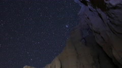 Astro Time Lapse of Big Dipper over Arch Rock in Desert -Long Shot- Stock Footage