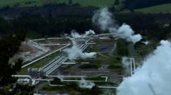 Wairakei Geothermal Power Field Stock Footage