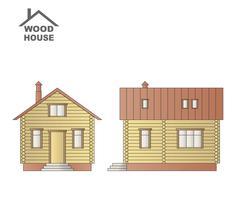 Wood house. - stock illustration