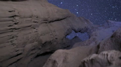 3axis motion control time lapse of Big Dipper over Arch Rock in Desert -Vertical Stock Footage