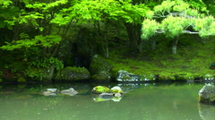 Japaneese Garden Pullout Stock Footage