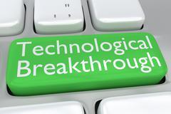 Technological Breakthrough concept Stock Illustration