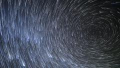 Astro Time Lapse of Meteorite Burst & Star Trails over Desert Rock -Long Shot- - stock footage