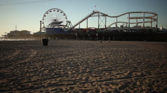 Santa Monica pier amusement park Arkistovideo
