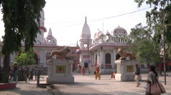 WS of the street in Haridwar, India Stock Footage