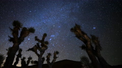 Astro Time Lapse of Constellation Orion Setting over Joshua Tree -Pan Left- - stock footage
