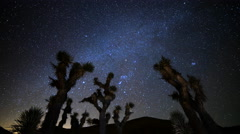 Astro Time Lapse of Constellation Orion Setting over Joshua Tree -Zoom In- - stock footage