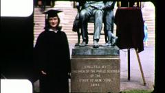 Proud Female College Graduate GRADUATION Woman 1960 Vintage Film Home Movie 9033 Stock Footage