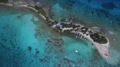 Arial shot Belize tropical island - stock footage