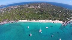 British Virgin Islands Arial shot Stock Footage
