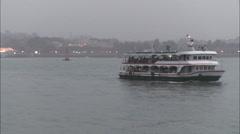 Passenger Ferry, Gulangyu, Xiamen, China Stock Footage