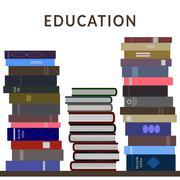 Stack of books - stock illustration