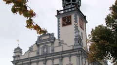 Exterior of the town hall building in Helmno, Poland. Stock Footage