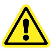 attention sign on white background - stock illustration