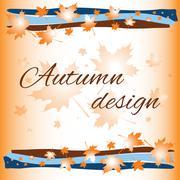 Autumn card background Stock Illustration