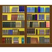 Bookshelf volume design Stock Illustration