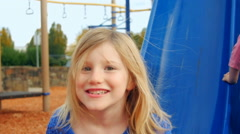 Older sister makes faces at the camera - stock footage