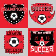 Soccer logo typography, t-shirt graphics Stock Illustration