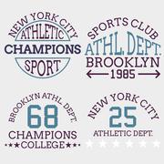 Athletic nyc logo typography, t-shirt graphics Stock Illustration