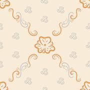 Stock Illustration of Seamless background from ornate ornament