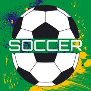 Soccer typography, t-shirt graphics Stock Illustration