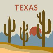Texas t-shirt design Stock Illustration