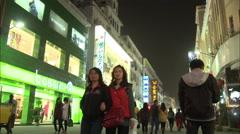 Bossini shop, Chinese retail, Xiamen, China - stock footage