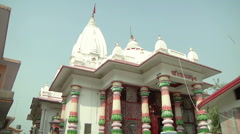 Tilt WS of monastery in Haridwar, India Stock Footage