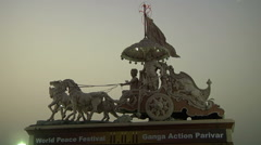 Zoom WS of a chariot statue in Amritsar, India Stock Footage