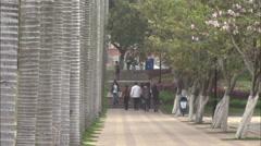 University students on campus, Xiamen, China - stock footage