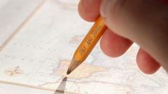 Study and travel text. Thomas Jefferys map 1775 Stock Footage