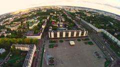 Victory square in Vitebsk, Belarus Stock Footage
