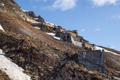 Abanodoned coal mine station in Longyearbyen, Svalbard Stock Photos