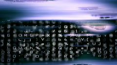 Abstract digital data forms flicker and pulse - Video Background 2263 HD, 4K Stock Footage