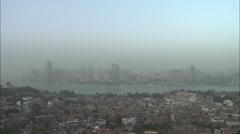 Gulungyu Island & Xiamen City skyline, China Stock Footage