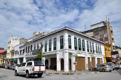 Victorian Neo-Renaissance heritage building in Ipoh at Belfield Street - stock photo