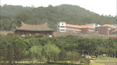 Xiamen University, campus buildings, China Stock Footage