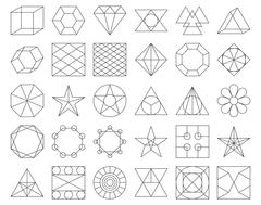 Set of vector trendy geometric icons Stock Illustration