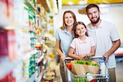 At the supermarket - stock photo