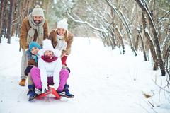 Winter activities Stock Photos