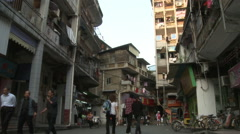 Xiamen side street, Chinese people, China Stock Footage